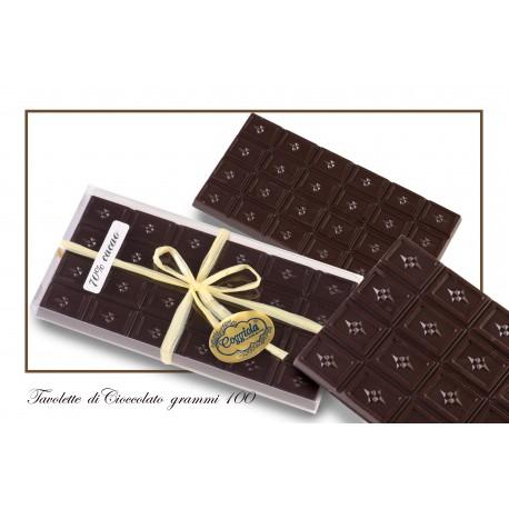 Tavoletta cioccolato fondente 70% 100 gr.
