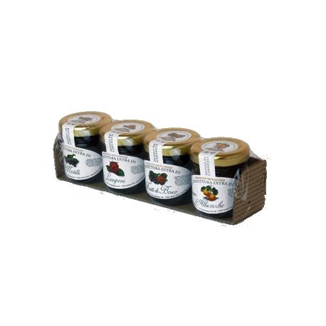 Blister confetture 4 vasetti gr.40